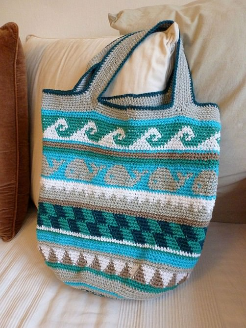 Crochetalong Häkeltasche Sand und Meer von Anett schoenstricken.de