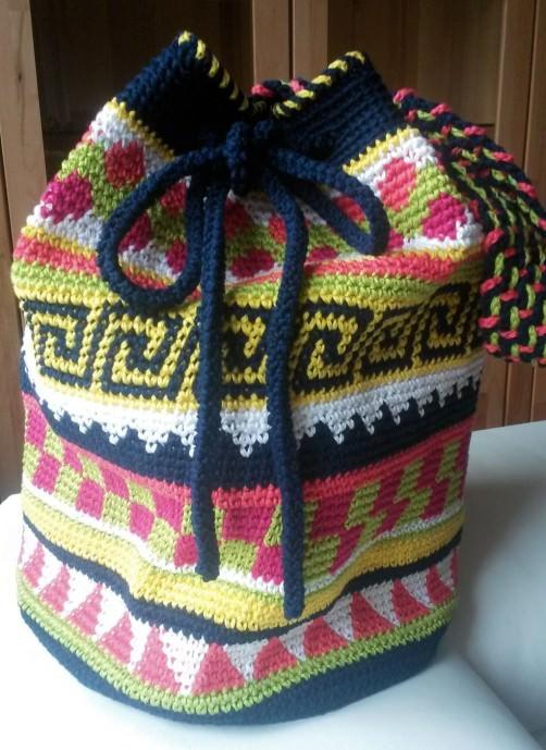 Crochetalong Häkeltasche Sand und Meer von Anitha schoenstricken.de