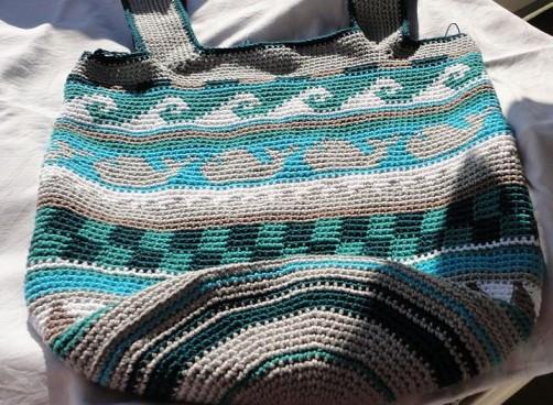 Crochetalong Häkeltasche Sand und Meer von Anne K schoenstricken.de