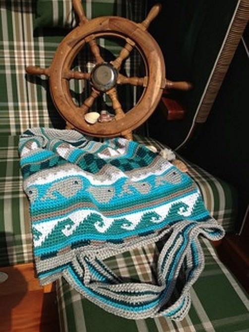 Crochetalong Häkeltasche Sand und Meer von Bärbel schoenstricken.de
