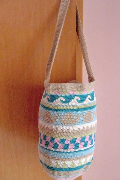 Crochetalong Häkeltasche Sand und Meer von Birte schoenstricken.de