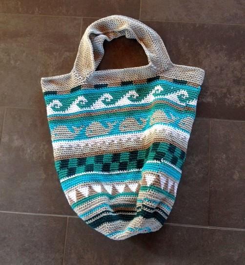 Crochetalong Häkeltasche Sand und Meer von Christina schoenstricken.de