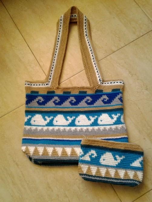 Crochetalong Häkeltasche Sand und Meer von Daniela 1 schoenstricken.de