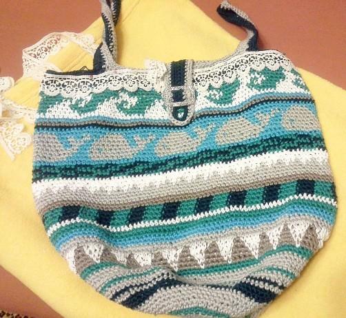 Crochetalong Häkeltasche Sand und Meer von Gerlinde schoenstricken.de