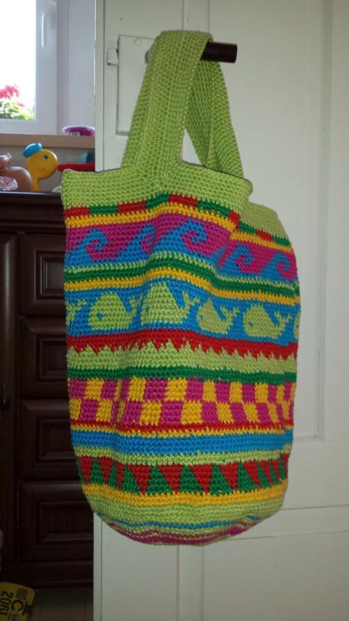 Crochetalong Häkeltasche Sand und Meer von Jaqueline1 schoenstricken.de