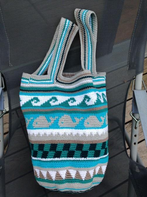 Crochetalong Häkeltasche Sand und Meer von Rahel schoenstricken.de