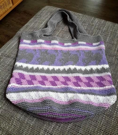 Crochetalong Häkeltasche Sand und Meer von Ramona schoenstricken.de