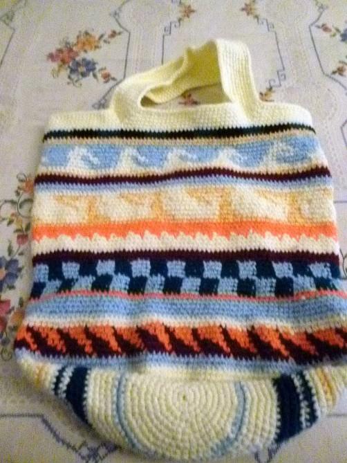 Crochetalong Häkeltasche Sand und Meer von Silvia schoenstricken.de