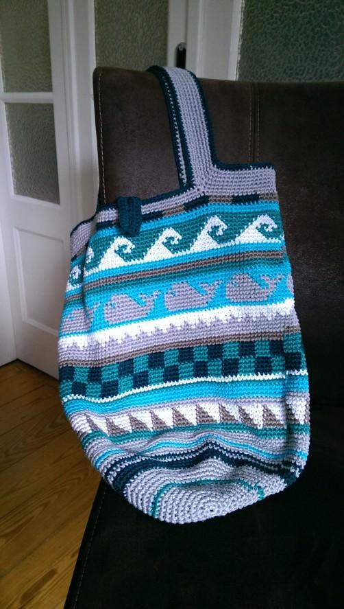 Crochetalong Häkeltasche Sand und Meer von Ulli schoenstricken.de