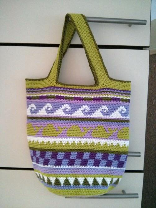 Crochetalong Häkeltasche Sand und Meer von Yvonne schoenstricken.de