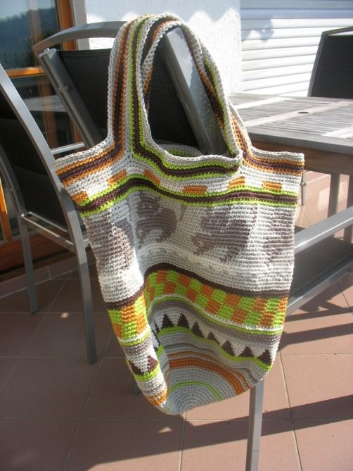 Crochetalong Häkeltasche von Mino