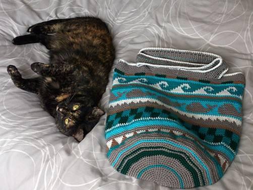 Crochetalong Häkeltasche von Rilana schoenstricken.de