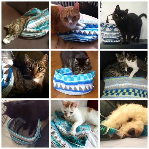 Galerie Teil 5 Crochetalong Tasche  mit Katzen schoenstricken.de