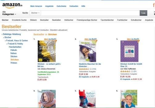 Mein Strickbuch ist der Amazon Bestseller schoenstricken.de