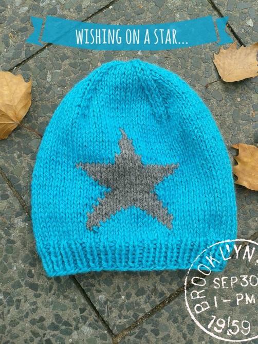 Mütze mit Stern stricken Strickkit 1 schoenstricken.de