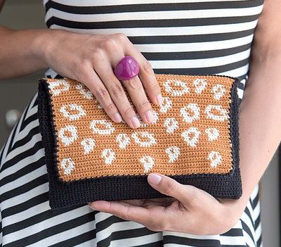 Tapestry häkeln Clutch Handtasche schoenstricken.de