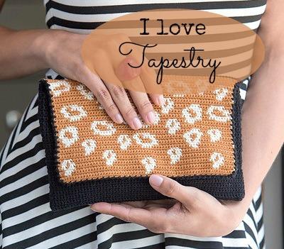 Tapestry häkeln Clutch Handtasche1 schoenstricken.de