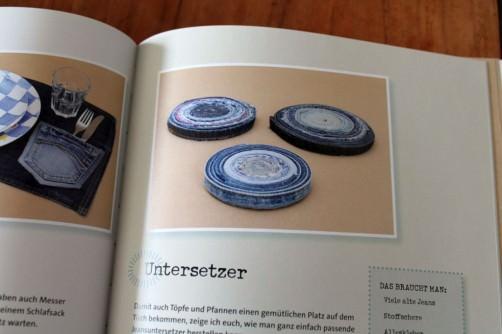DIY Buchvorstellung aus alt mach schön Jeans Untersetzer schoenstricken.de