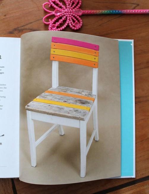 DIY Buchvorstellung aus alt mach schön Stuhl Upcycling schoenstricken.de