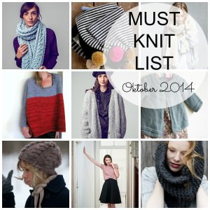 Must Knit List Oktober 2014