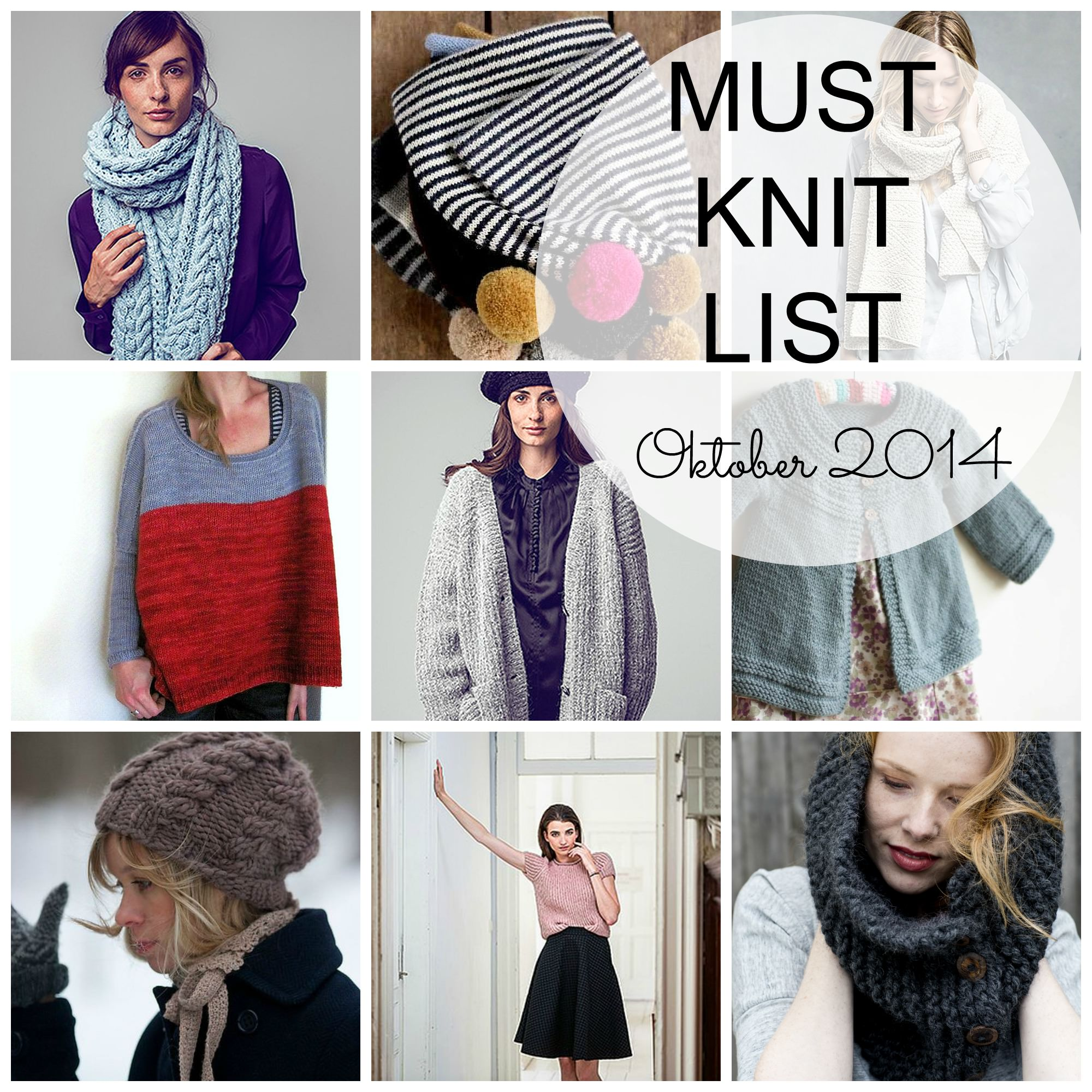 Must Knit Liste Oktober 2014 schoenstricken.de