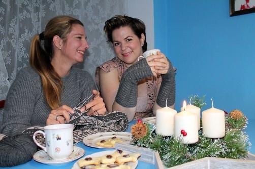 Adventsknitalong Katrin und Jessica stricken schoenstricken.de