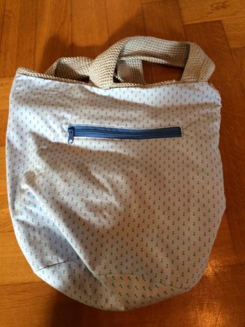 Innentasche für Sand und Meer Tasche nähen 2 schoenstricken.de
