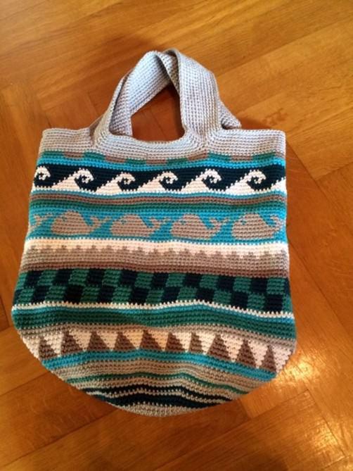 Innentasche für Sand und Meer Tasche nähen schoenstricken.de