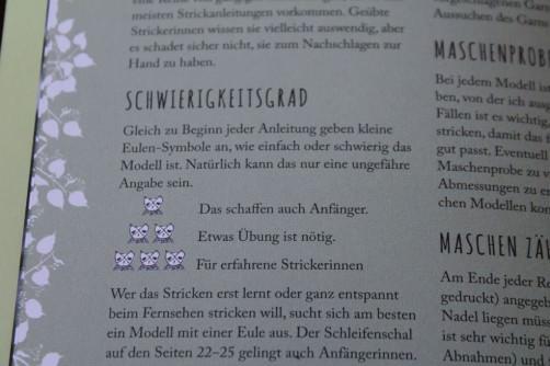 Strickbuch Vorstellung Elfenstrick Schwierigkeitsgrad schoenstricken.de