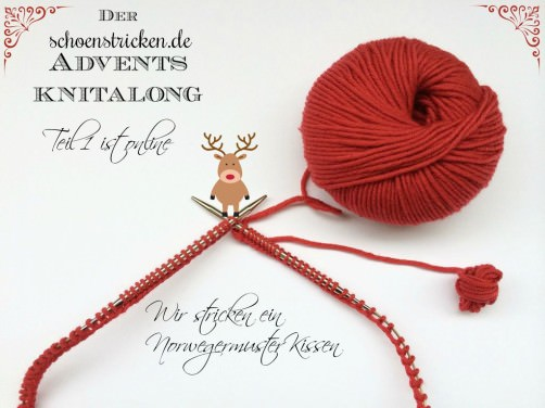 Teil 1  ist online Muster 1 Norwegermuster Kissen Knitalong schoenstricken.de