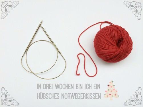 Teil 1 Muster 1 Norwegermuster Kissen Knitalong der Anfang schoenstricken.de