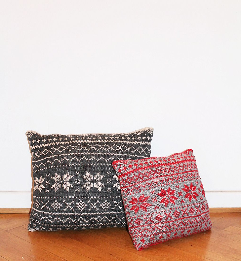 Adventsknitalong Norwegermuster Kissen stricken  schoenstricken.de