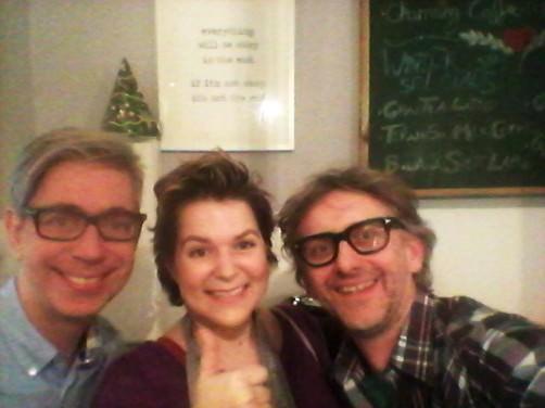 Arne und Carlos mit Jessica von schoenstricken.de