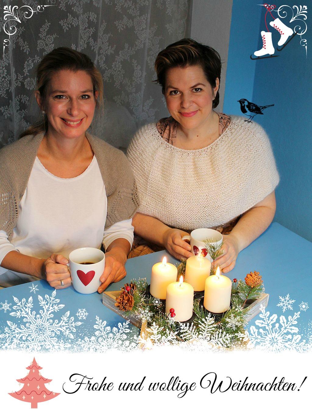 Frohe Weihnachten  Katrin und Jessica schoenstricken.de