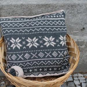 Advents Knitalong Norwegermuster Kissen Teil 3