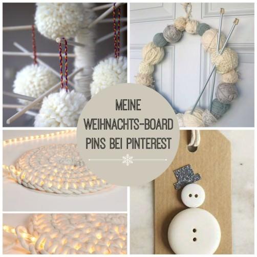 Meine Weihnachts Bord Pins bei Pinterest schoenstricken.de