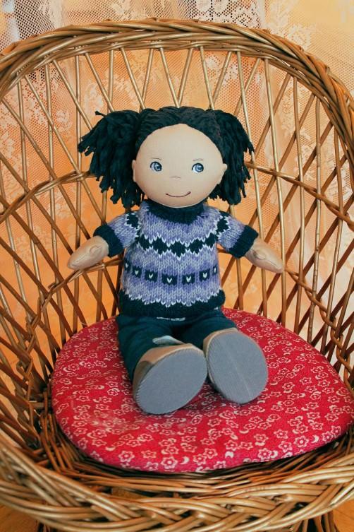 Puppen Pullover im Norwegermuster schoenstricken.de