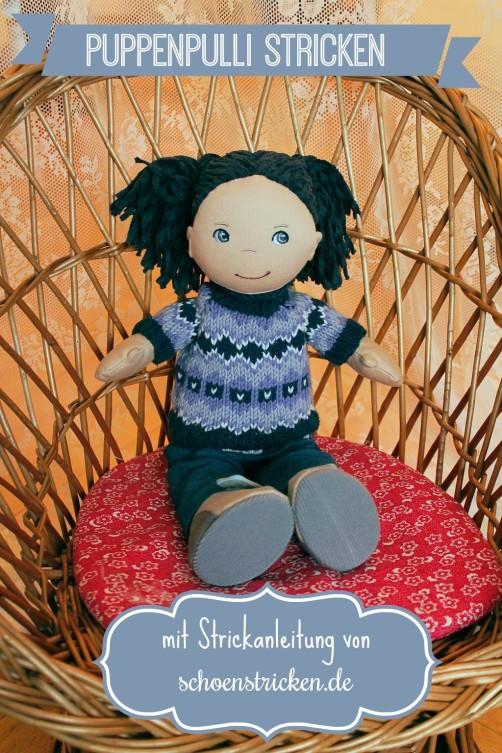 Puppen Pullover im Norwegermuster von schoenstricken.de
