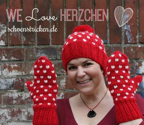 Herzchenmütze jetzt kostenlos stricken bei schoenstricken.de