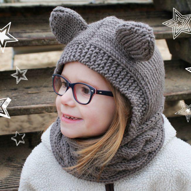 Schalmütze mit Ohren stricken aus Merinowolle schoenstricken.de