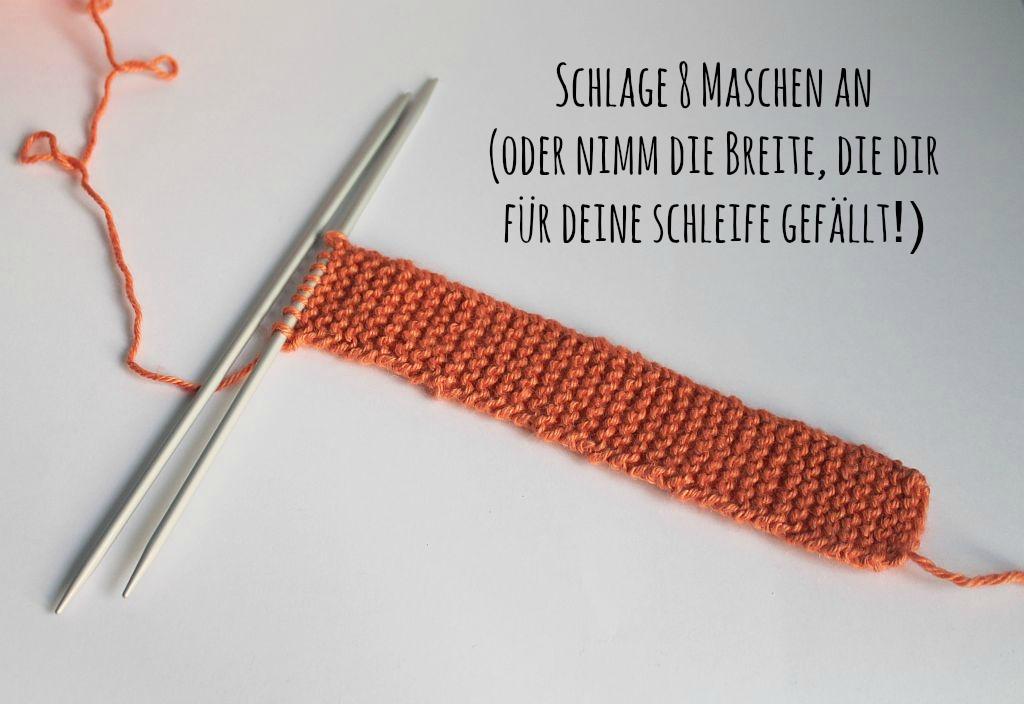 schoenstricken.de | Wie stricke ich eine Schleife?