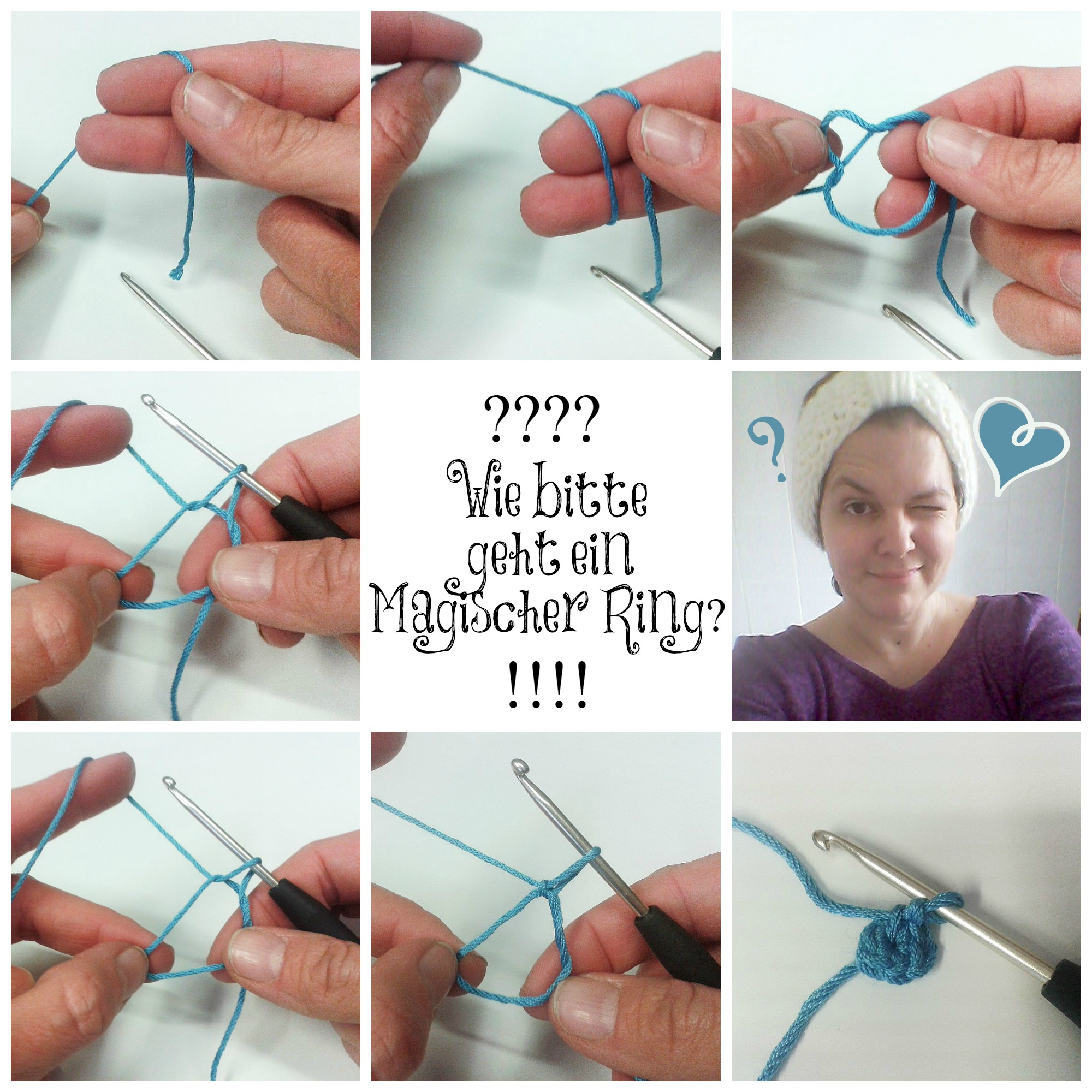 Magischer Ring Collage schoenstricken.de
