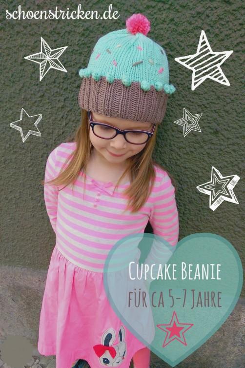 Cupcake Beanie Strickanleitung. von schoenstricken.de
