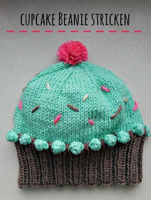 Cupcake Beanie von schoenstricken.de
