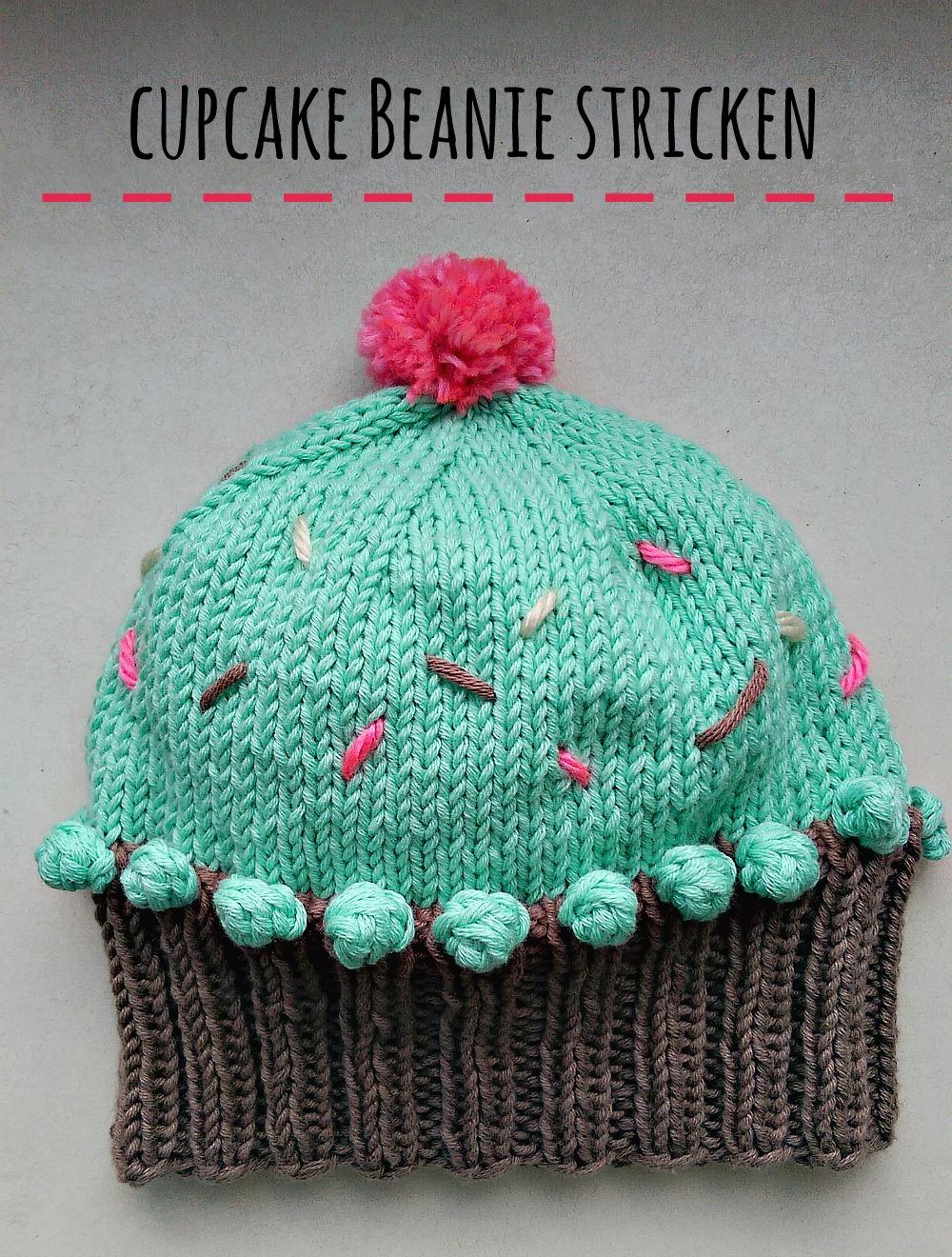 schoenstricken.de | Cupcake Beanie stricken