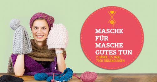 Sarah Wiener Stricken für den guten Zweck schoenstricken.de