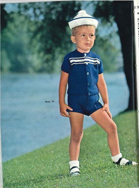 Jakob Lang als Kindermodel