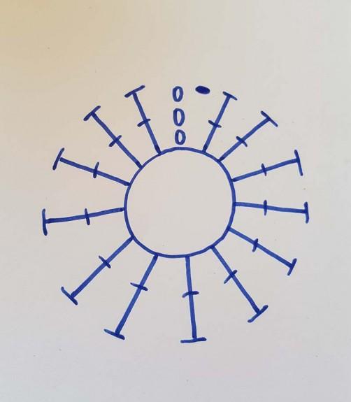 1. Runde Häkelschrift