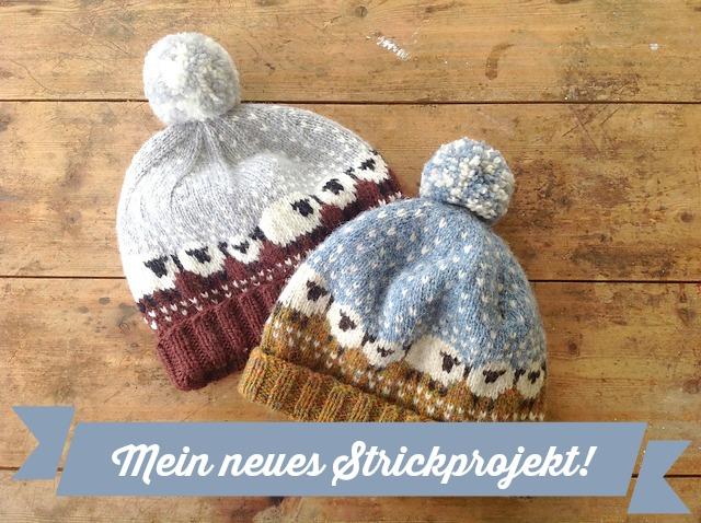 6d6c3c4cd86 Bablee Hat Mütze mit Schafen stricken 1 schoenstricken.de