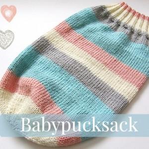 Einen Babypucksack stricken